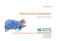 2016 – Plan d'action sommaire (WaterShed Monitoring)